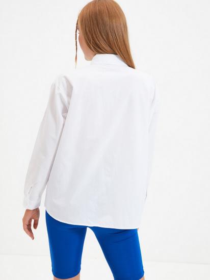 Сорочка з довгим рукавом Trendyol модель TWOAW22GO0161/Beyaz — фото 4 - INTERTOP