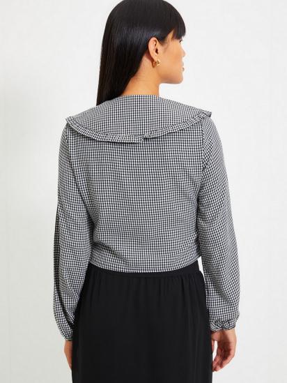 Сорочка з довгим рукавом Trendyol модель TWOAW22GO0310/Siyah — фото 2 - INTERTOP
