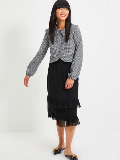Сорочка з довгим рукавом Trendyol модель TWOAW22GO0310/Siyah — фото 4 - INTERTOP