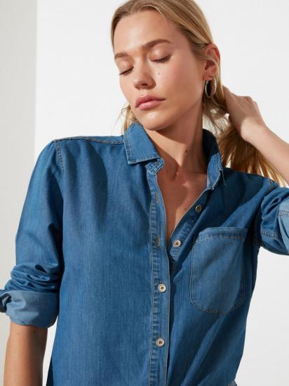 Блуза з довгим рукавом Trendyol модель TWOSS21GO0790/Mavi — фото 3 - INTERTOP