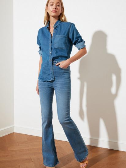 Блуза з довгим рукавом Trendyol модель TWOSS21GO0790/Mavi — фото 4 - INTERTOP