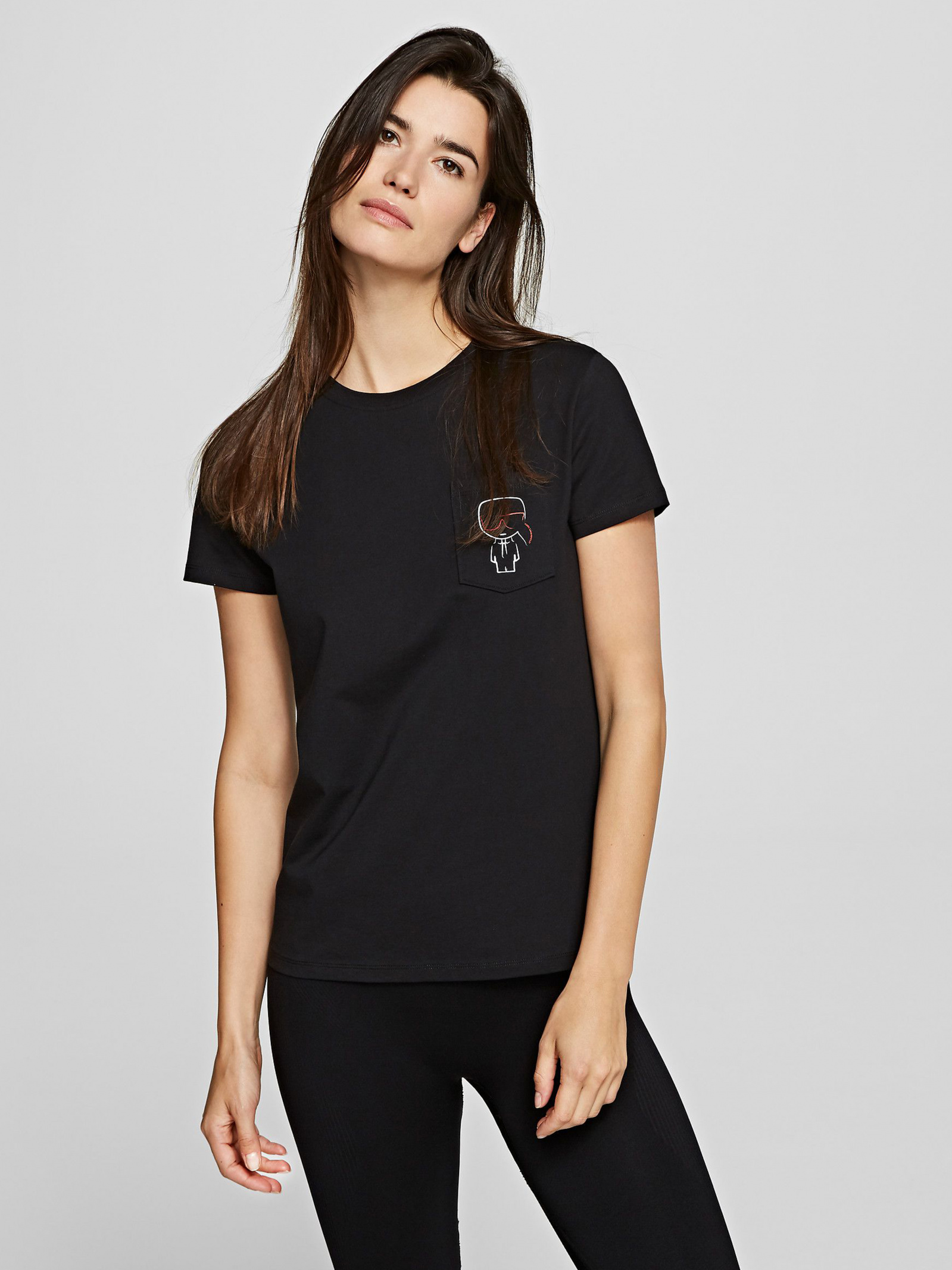 Футболка женские Karl Lagerfeld модель 201W1739_999_0041 приобрести, 2017