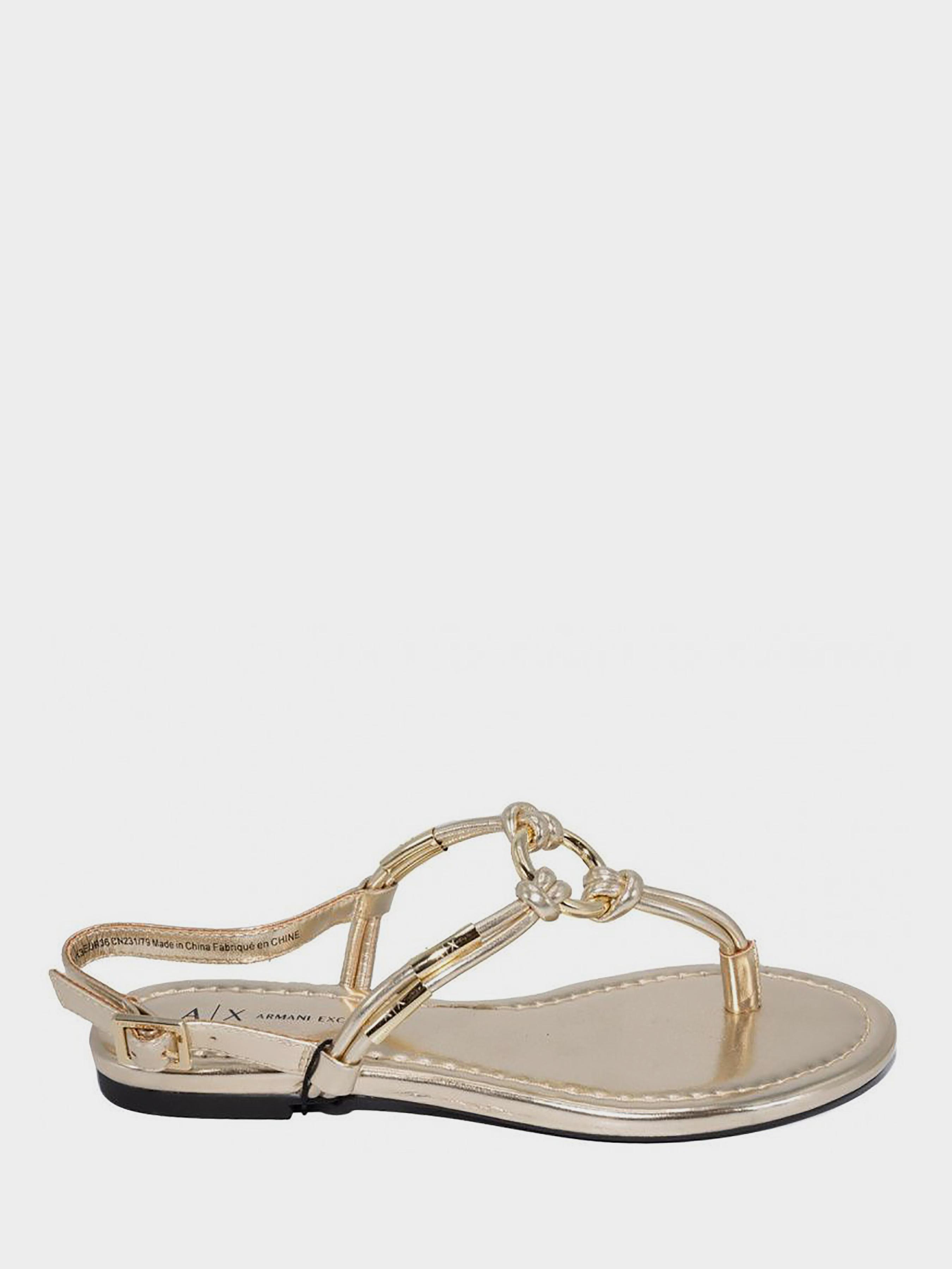 Сандалии для женщин Armani Exchange SANDAL PU CALF WD93 модная обувь, 2017