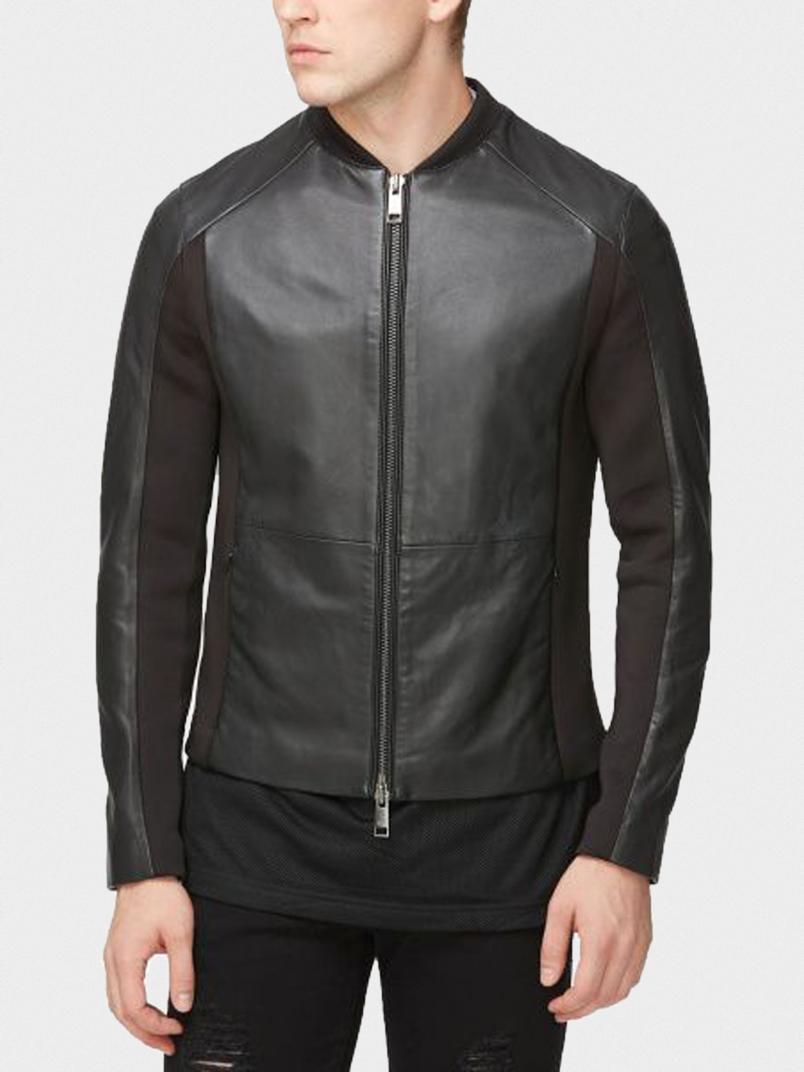 Куртка для мужчин Armani Exchange MAN LEATHER BLOUSON JACKET WH1003 брендовая одежда, 2017