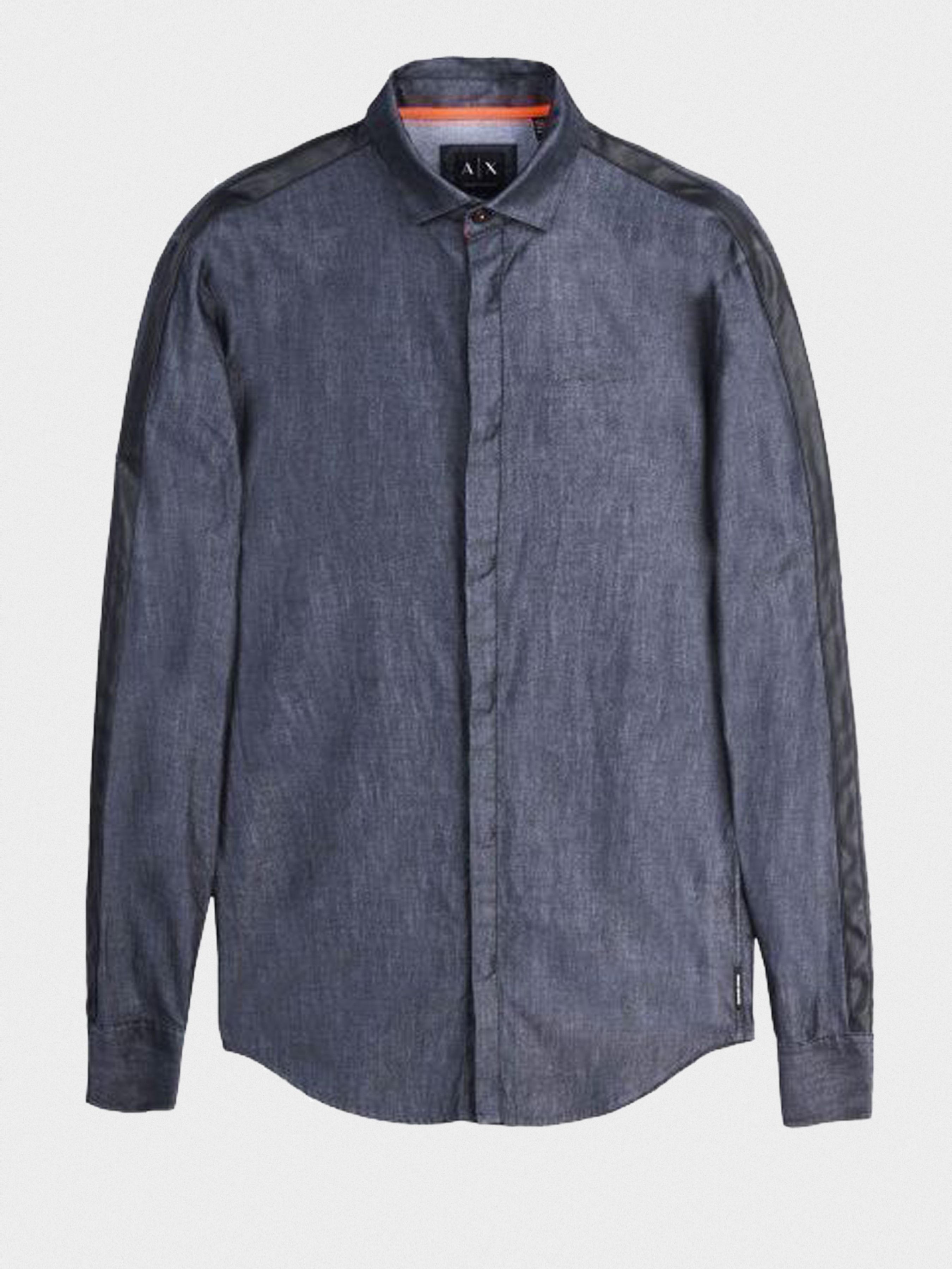 Рубашка с длинным рукавом мужские Armani Exchange MAN WOVEN SHIRT WH1021 примерка, 2017
