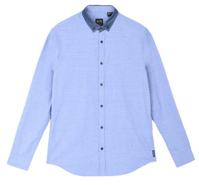 Рубашка с длинным рукавом мужские Armani Exchange MAN DENIM SHIRT WH1025 примерка, 2017