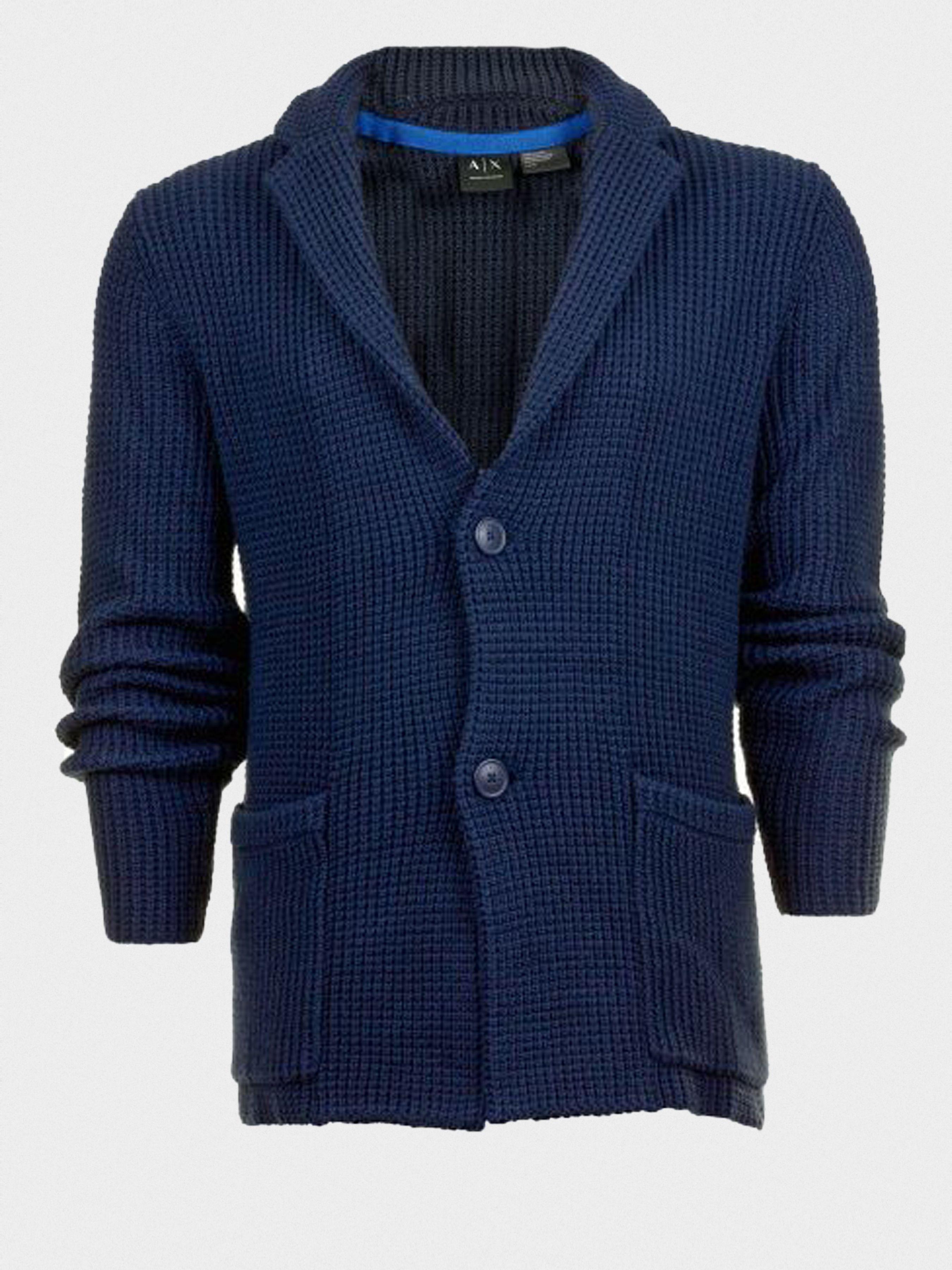 Пиджак для мужчин Armani Exchange MAN KNITWEAR BLAZER WH1046 размеры одежды, 2017