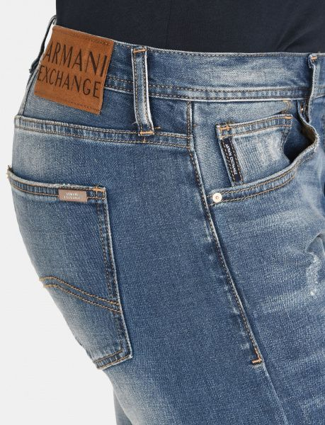 Джинсы для мужчин Armani Exchange MAN DENIM 5 POCKETS PANT WH1067 размерная сетка одежды, 2017