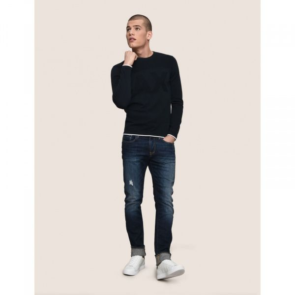 Пуловер для мужчин Armani Exchange MAN KNIT PULLOVER WH1443 размеры одежды, 2017