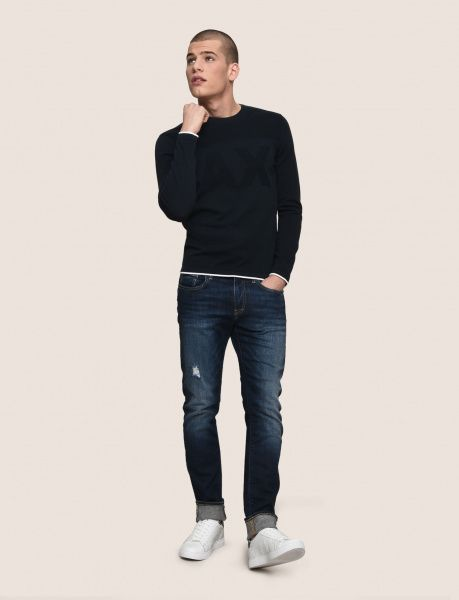 Пуловер для мужчин Armani Exchange MAN KNIT PULLOVER WH1445 фото, купить, 2017