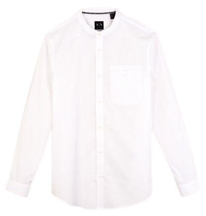 Рубашка с длинным рукавом для мужчин Armani Exchange MAN SHIRT WH1452 размеры одежды, 2017