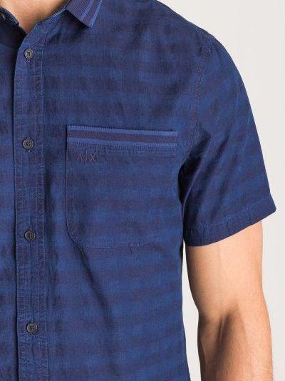 Рубашка с коротким рукавом для мужчин Armani Exchange MAN SHIRT WH1468 примерка, 2017