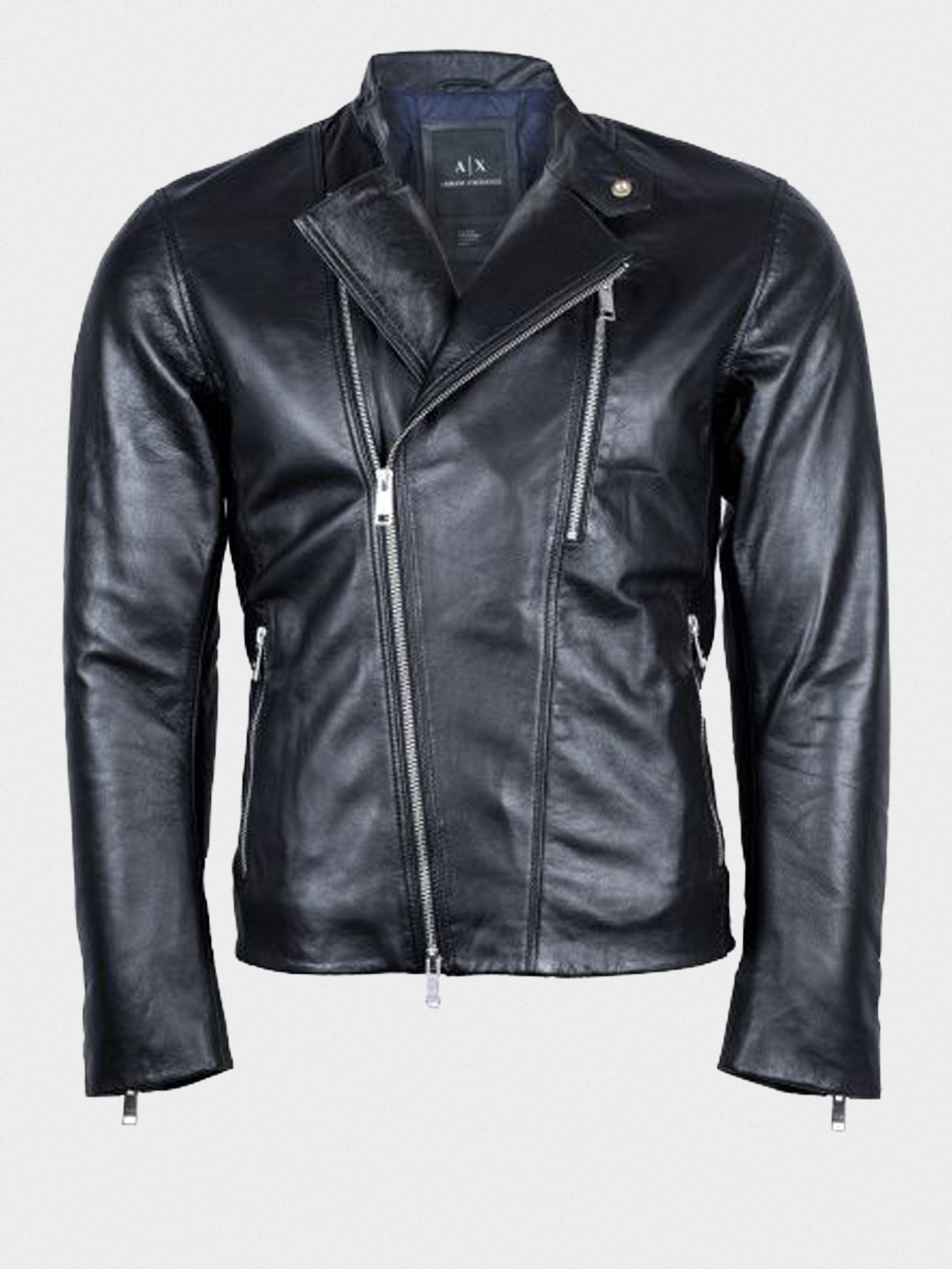 4ffe8a7a41a Куртка кожаная мужская Armani Exchange модель WH1780 - купить по ...