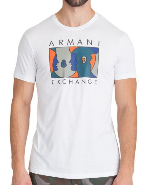 Купить Футболка мужские модель WH1869, Armani Exchange, Белый