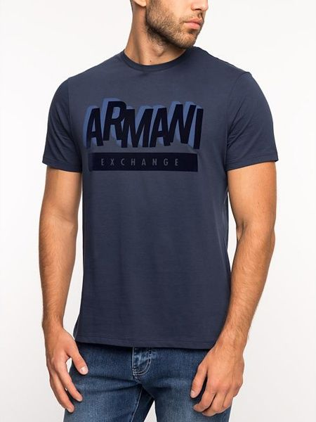 Купить Футболка мужские модель WH2406, Armani Exchange, Синий
