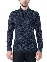 Рубашка с длинным рукавом мужские Armani Exchange модель WH36 цена, 2017