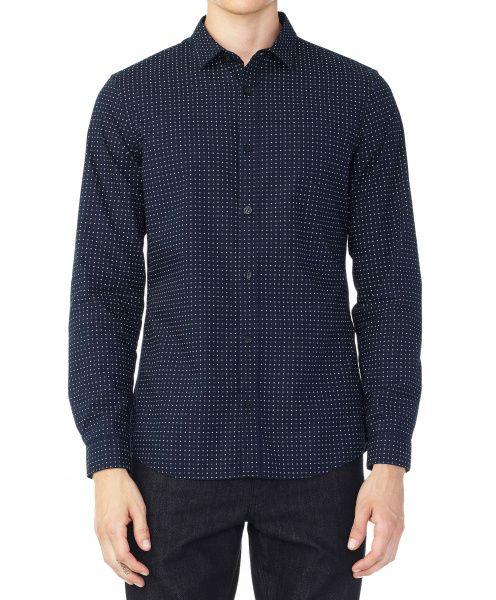 Рубашка с длинным рукавом для мужчин Armani Exchange WH47 примерка, 2017