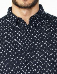 Рубашка с длинным рукавом мужские Armani Exchange модель WH55 отзывы, 2017