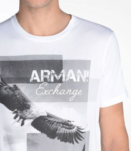 Футболка мужские Armani Exchange WH594 размерная сетка одежды, 2017