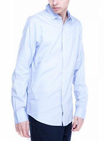 Рубашка с длинным рукавом мужские Armani Exchange модель WH641 качество, 2017