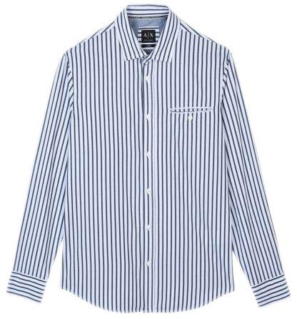 Рубашка с длинным рукавом мужские Armani Exchange WH761 примерка, 2017