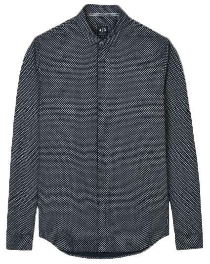 Рубашка с длинным рукавом мужские Armani Exchange WH763 примерка, 2017