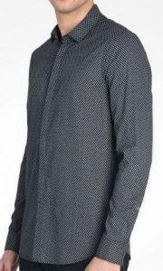 Рубашка с длинным рукавом мужские Armani Exchange модель WH763 качество, 2017