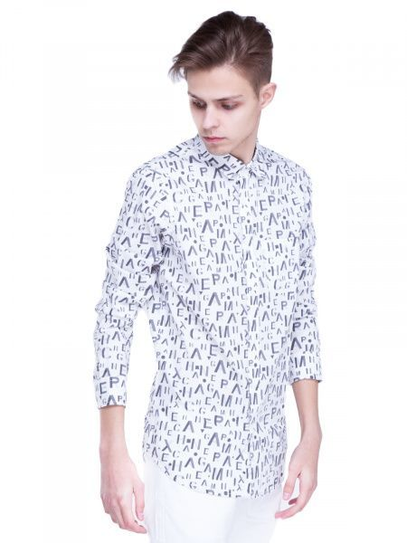Рубашка с длинным рукавом для мужчин Armani Exchange WH764 цена, 2017
