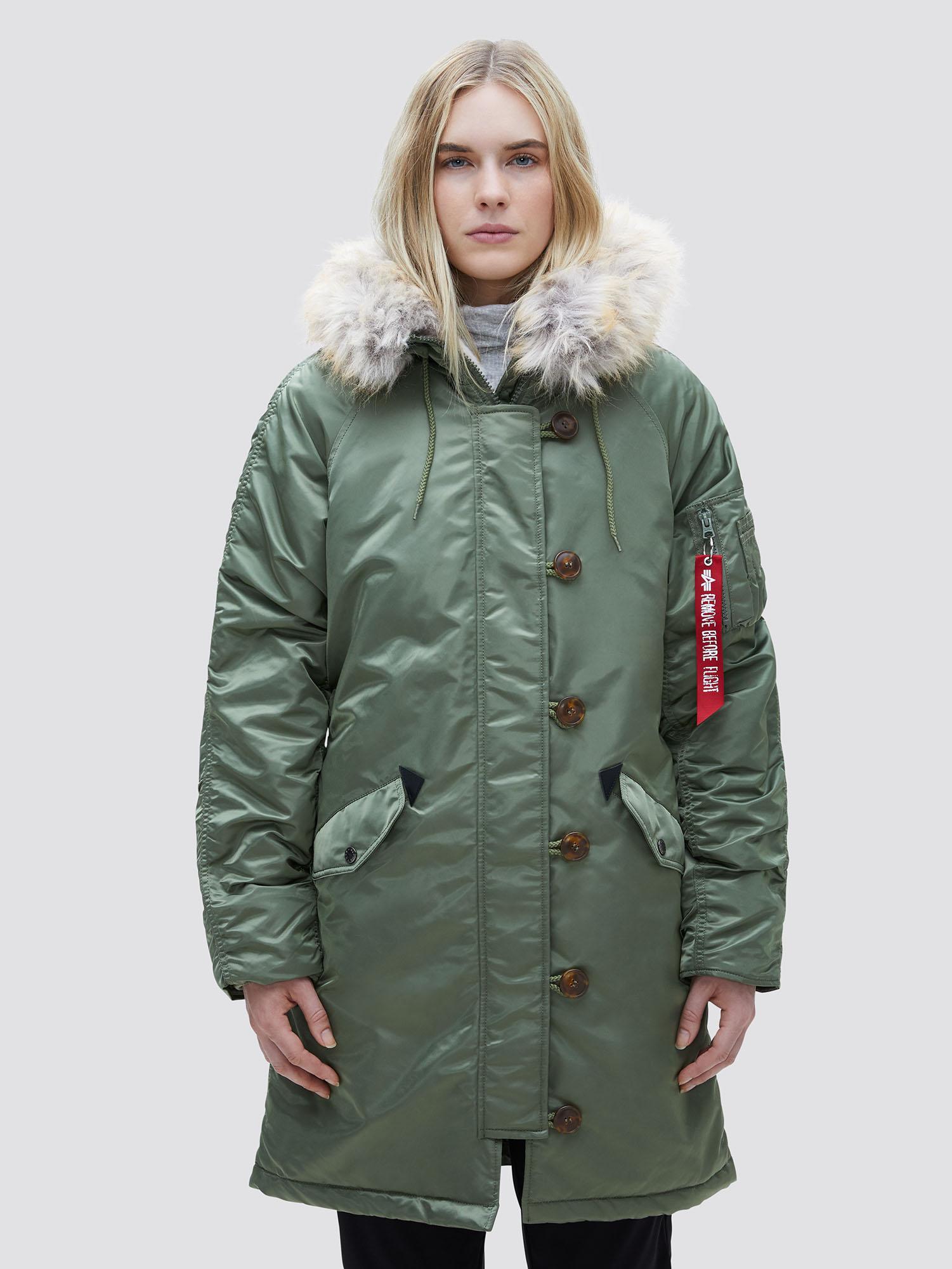 Куртка женские Alpha Industries модель WJE45500C1_sage , 2017
