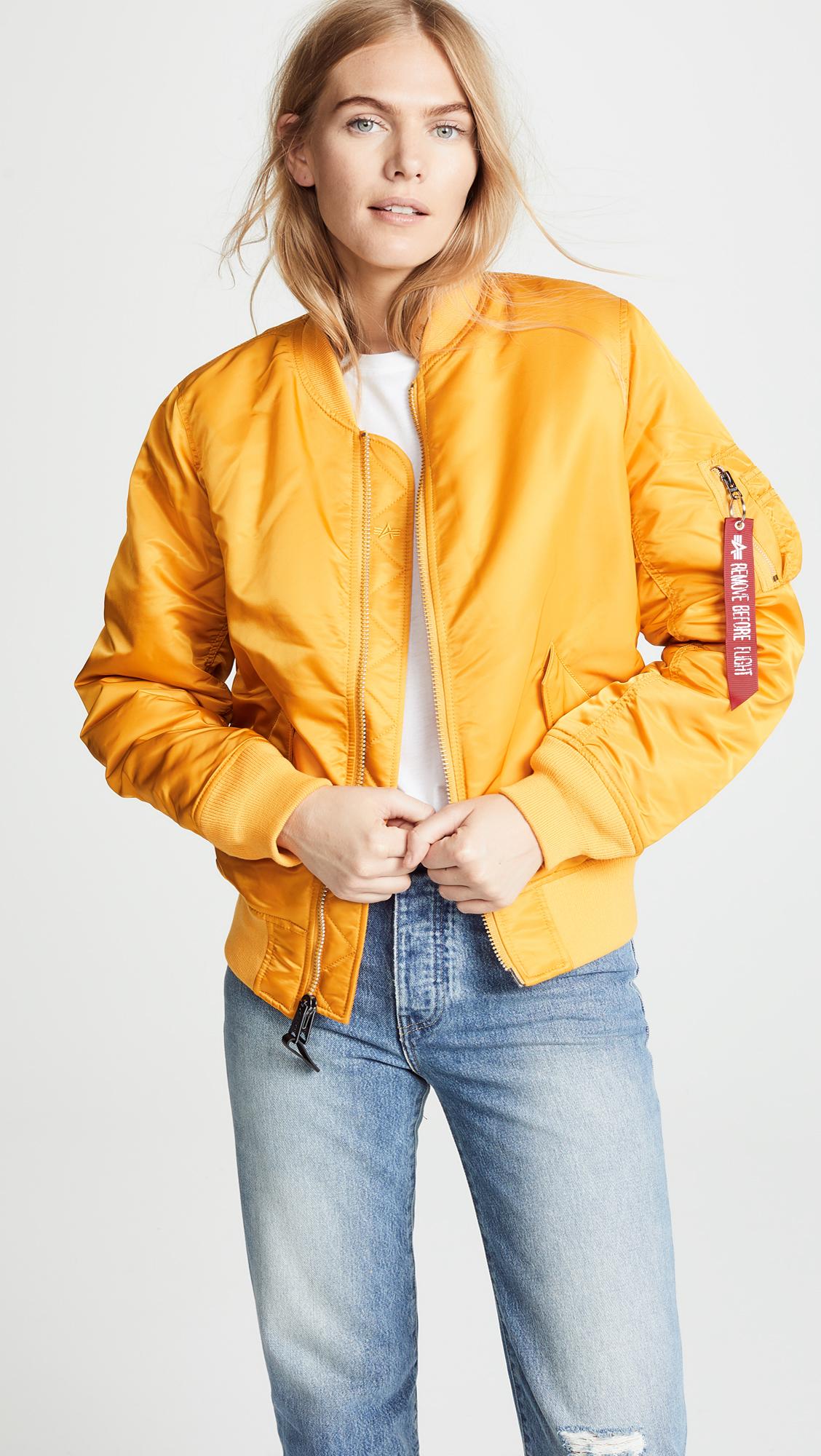 Куртка женские Alpha Industries модель WJM44500C1_Golden_Yellow отзывы, 2017
