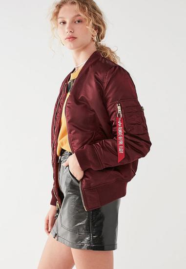Легка куртка Alpha Industries модель WJM44500C1_maroon — фото 2 - INTERTOP