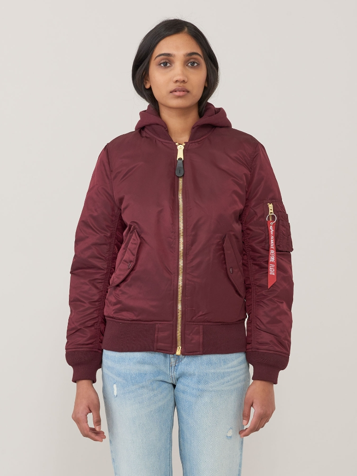 Куртка женские Alpha Industries модель WJM47505C1_maroon приобрести, 2017