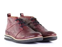Мужские ботинки бордовые, фото, intertop