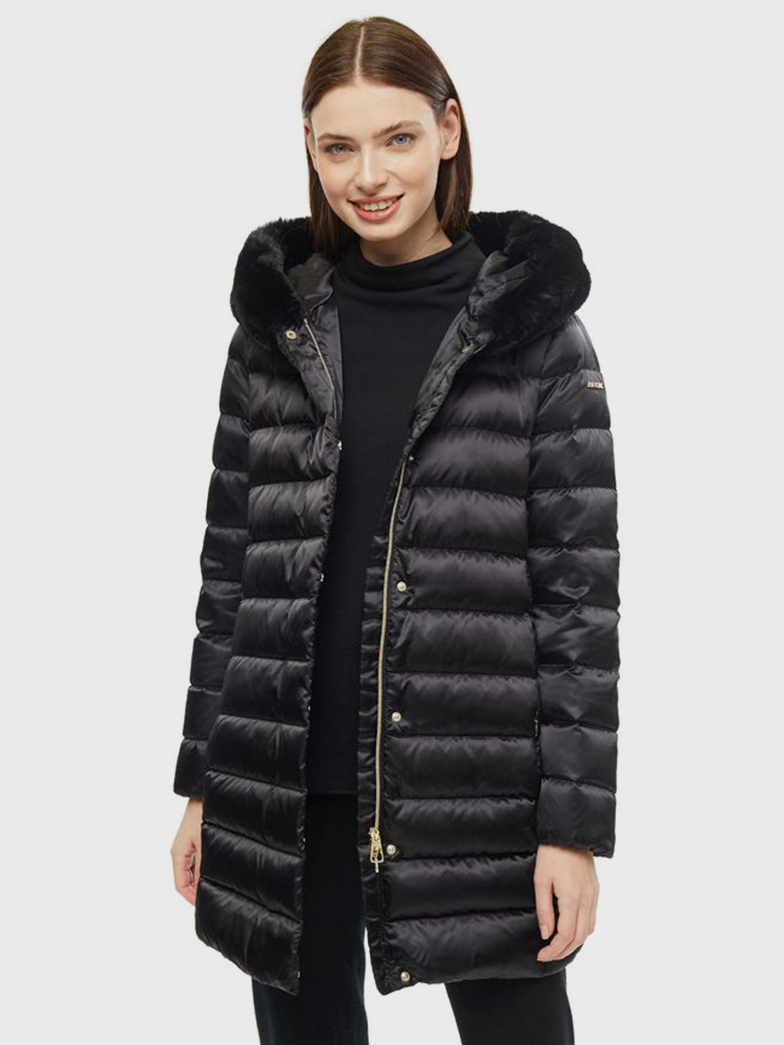 Купить Пальто пуховое женские модель XA6075, Geox, Черный
