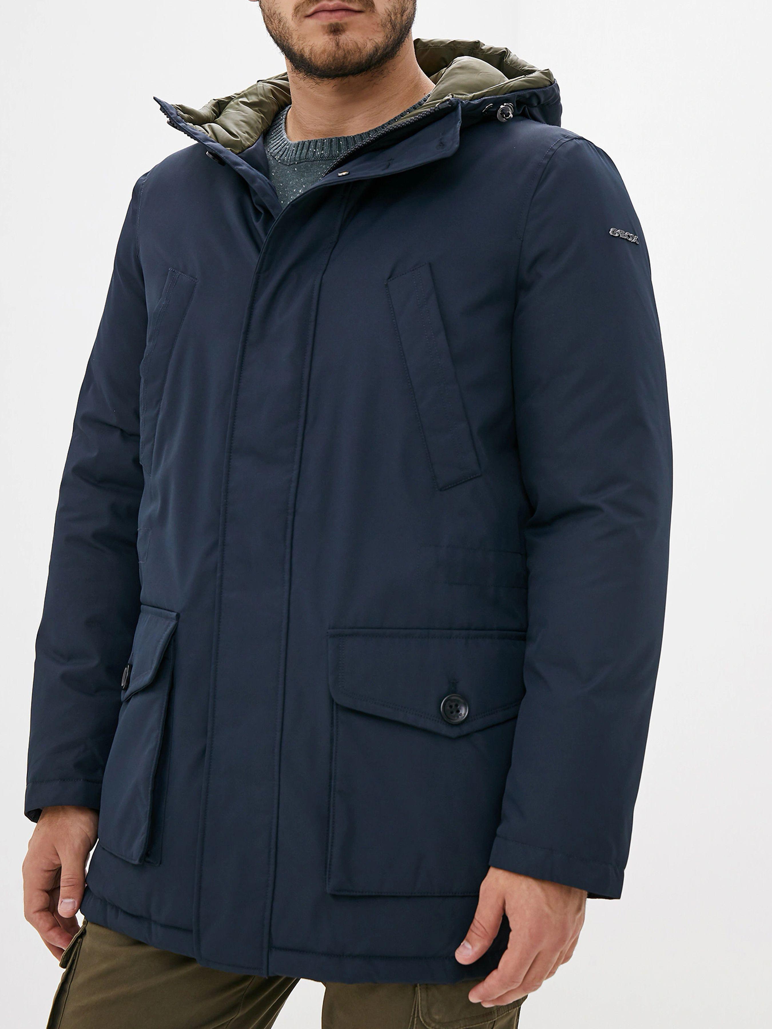 Купить Пальто мужские модель XA6089, Geox, Синий