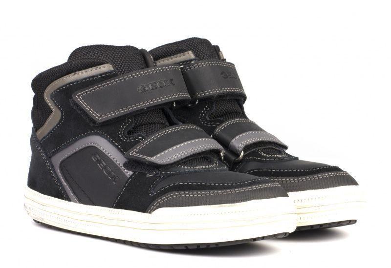 Купить Ботинки детские Geox J ELVIS H - GEOBUCK+SUEDE XK5466, Черный
