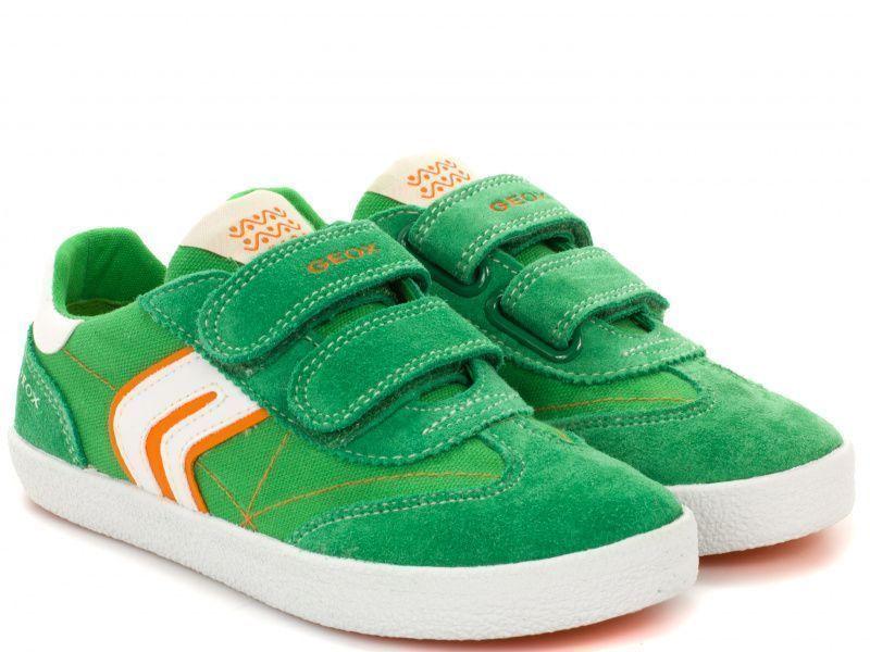 Купить Полуботинки детские Geox J KIWI B. M - CANVAS+SUEDE XK5564, Зеленый