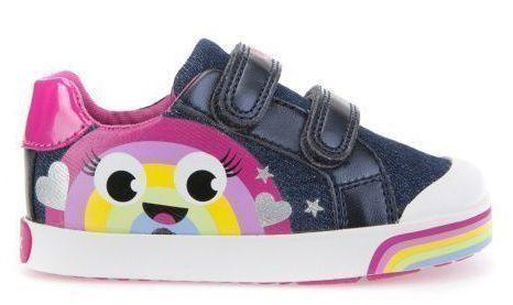 Купить Полуботинки детские Geox B KILWI G. C - JEANS+GBK PERL XK5733, Многоцветный