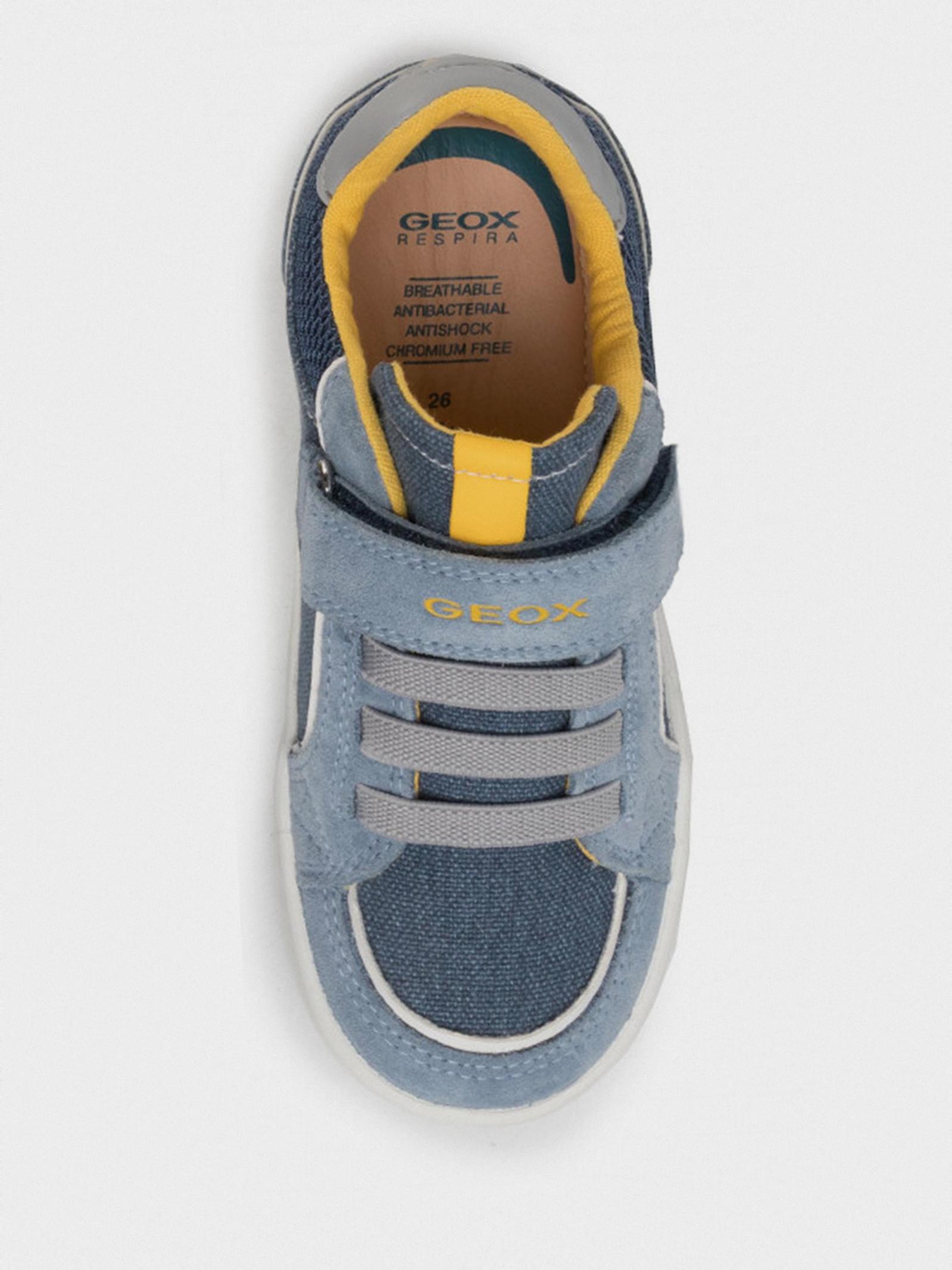 Полуботинки детские Geox B KILWI BOY B02A7B-0NB22-C4B4S размерная сетка обуви, 2017