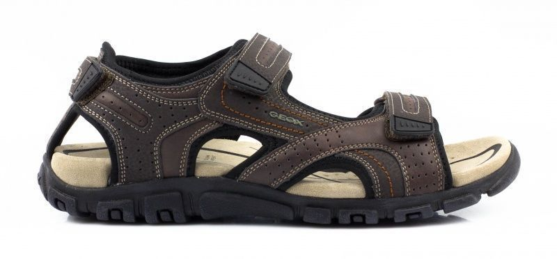 Сандалии для мужчин Geox U S.STRADA A - SYNT.LEA+DBK XM1586 брендовая обувь, 2017