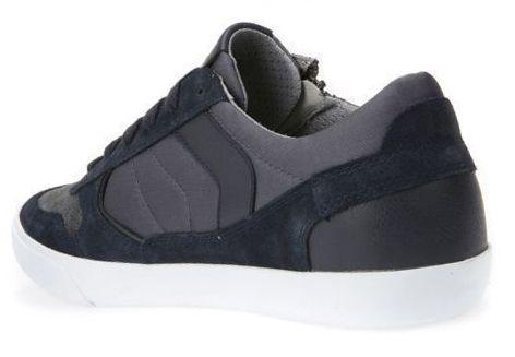 Полуботинки мужские Geox U BOX C - SCAM.+NYLON XM1833 брендовая обувь, 2017