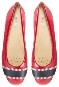 Балетки для женщин Geox D LAMULAY C - NAPPA+GEOBUCK XW3295 брендовая обувь, 2017