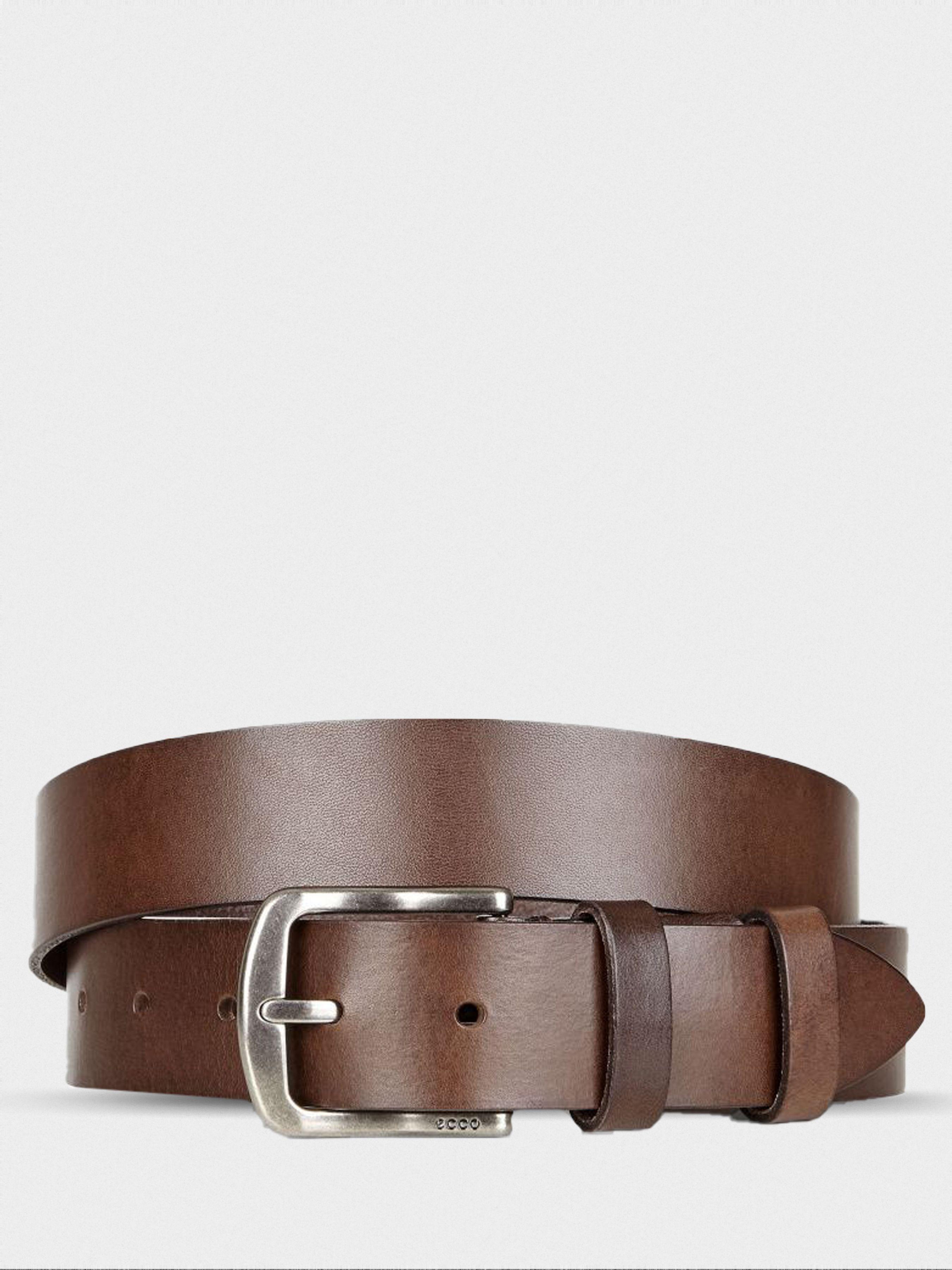 чоловічі ремінь ecco elias casual belt 9105191(90655) шкіряні