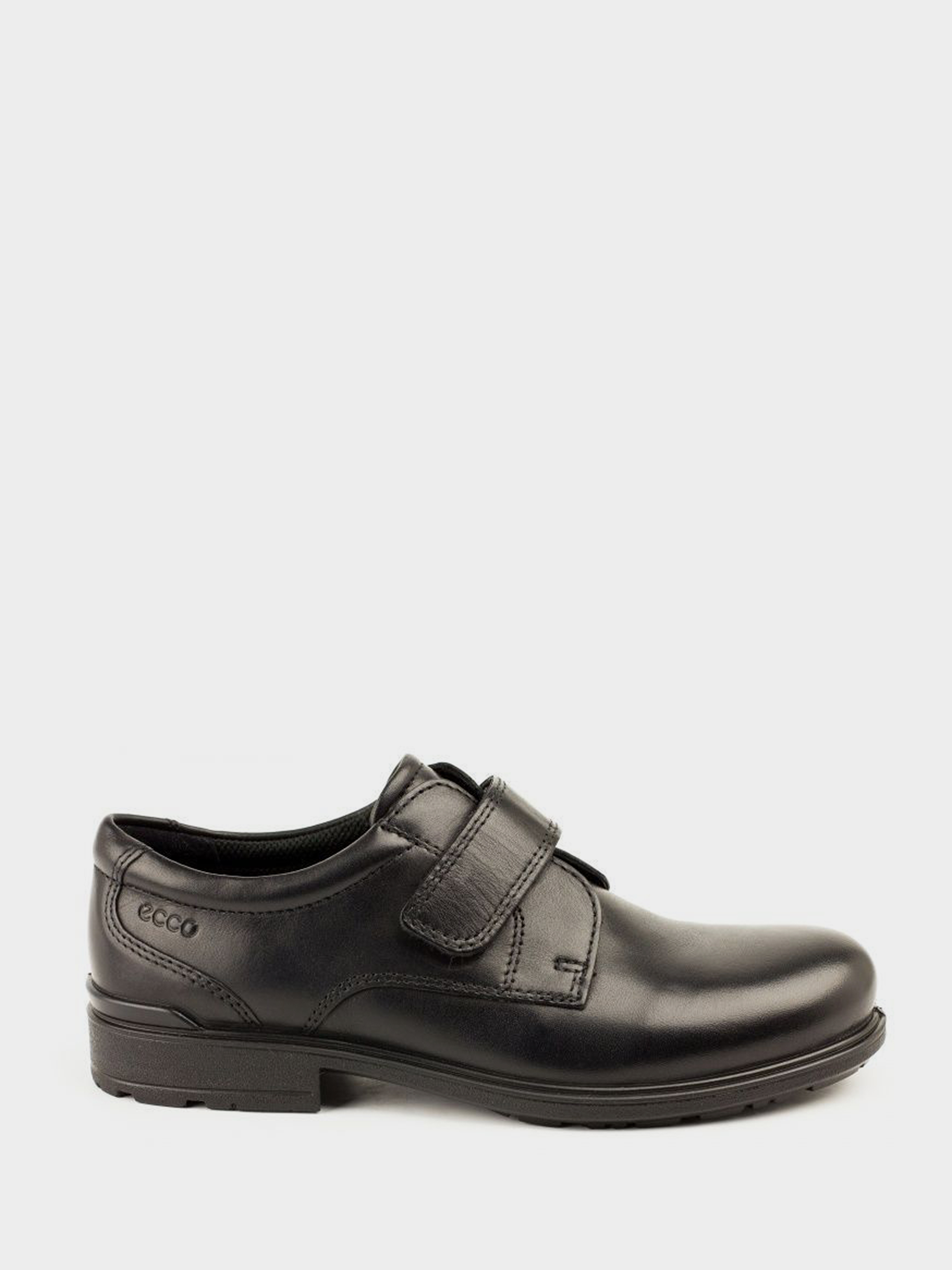 хлопчачі туфлі ecco cohen 730162(01001) шкіряні