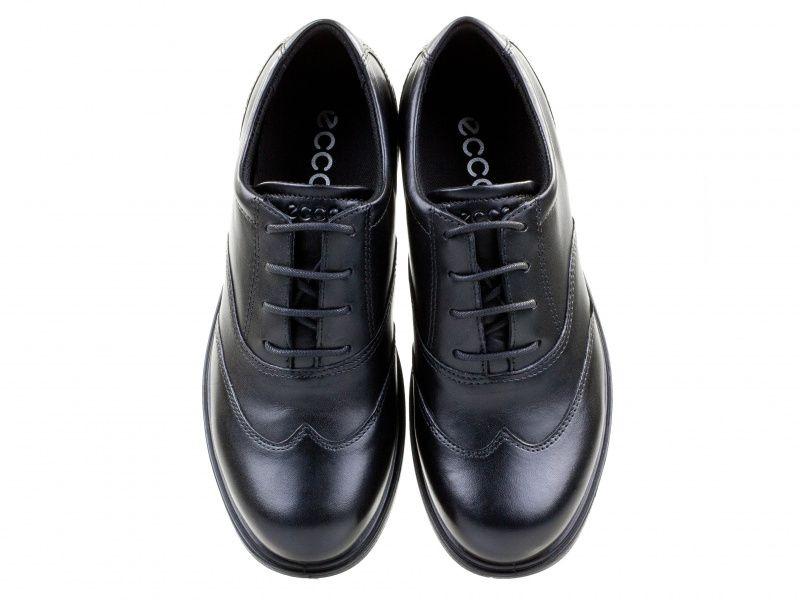 хлопчачі туфлі ecco cohen 730223(01001) шкіряні фото 4