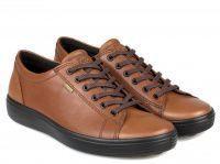 мужская обувь ECCO коричневого цвета приобрести, 2017