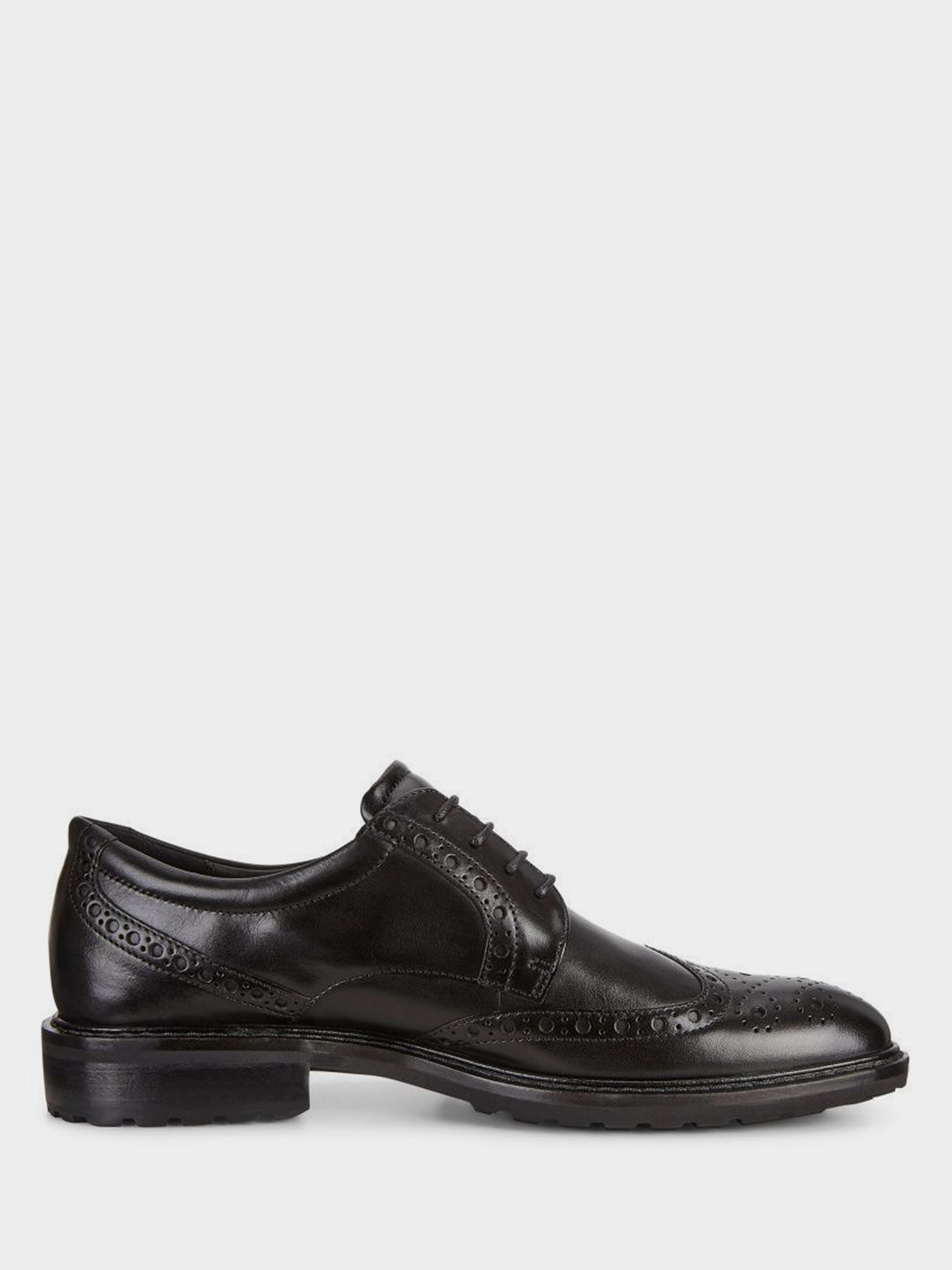 чоловічі туфлі ecco vitrus i 640314(01001) шкіряні