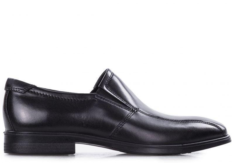 чоловічі туфлі ecco melbourne 621654(01001) шкіряні