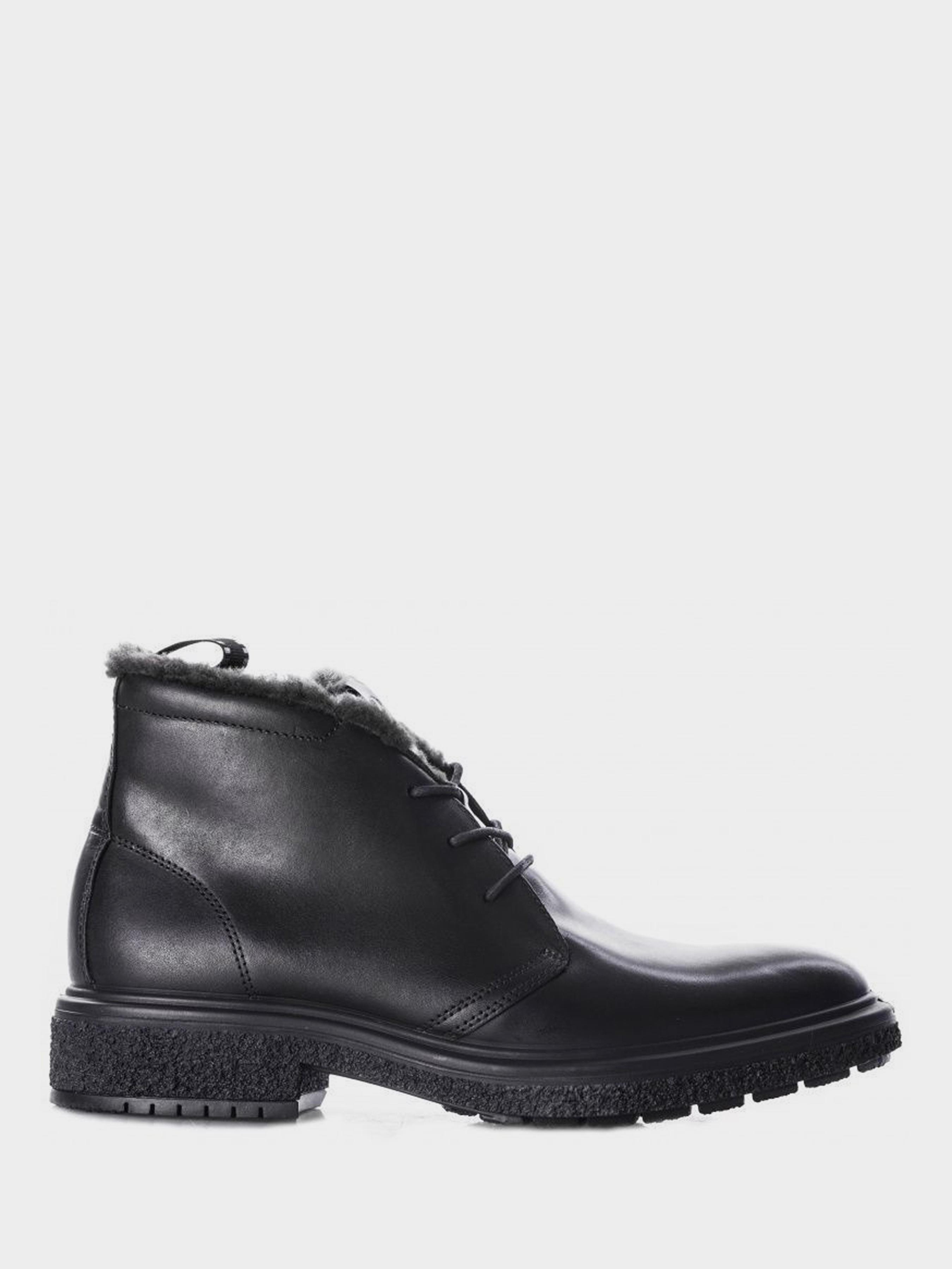 чоловічі черевики ecco crepe tray hybrid m 200964(01001) шкіряні
