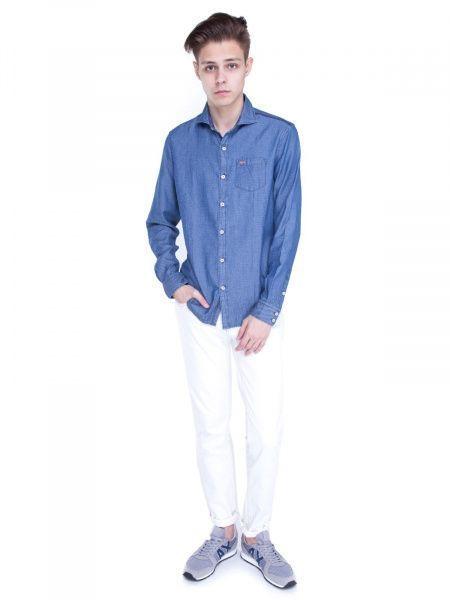 Рубашка с длинным рукавом для мужчин Napapijri ZS1400 примерка, 2017